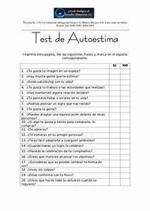 Test de autoestima