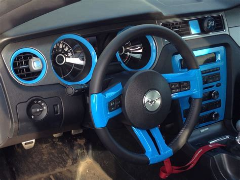 vinyl wrapped painted interior  gt  mustang