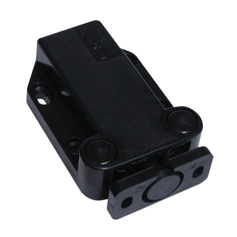 magnetic push latch cabinet shop sugatsune black magnetic cabinet latch at lowes com