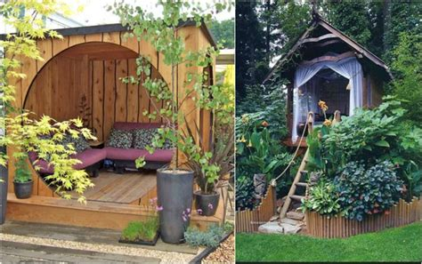 Ideen Im Garten Für Kinder by Ideen F 252 R Den Garten Sitzecke Holz Gartenlaube H 252 Tte