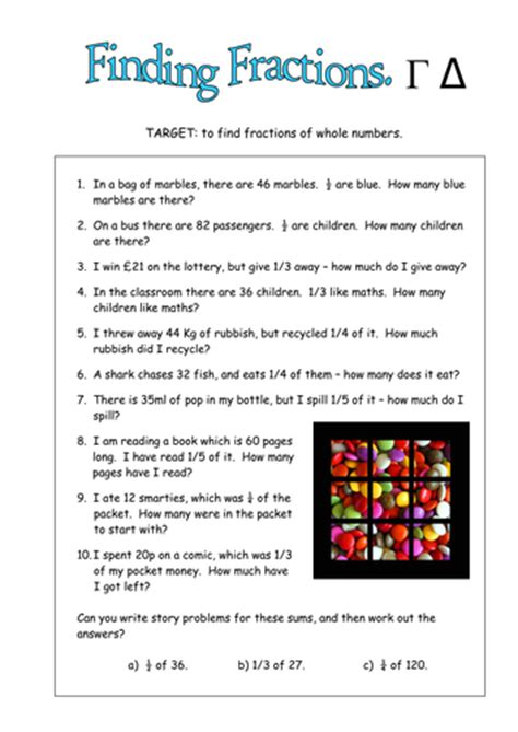 Fractions Of Amounts, Including Real Life By Duncant01  Teaching Resources Tes