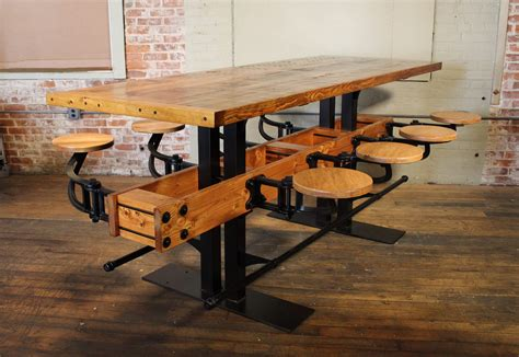 Swing Table by Bar Height Pub Table With Swing Out Seats Get Back Inc
