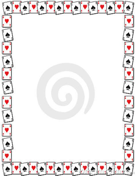 playing card border stock images image