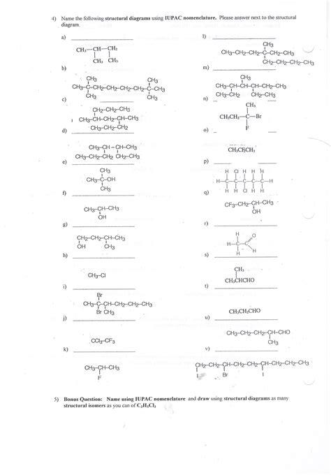 naming alkanes worksheet free printables worksheet