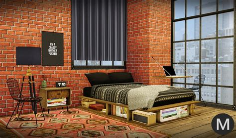 rustic bedroom industrial rustic bedroom conversion by maxims teh sims Industrial