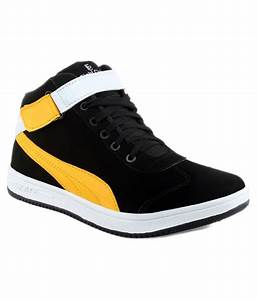 Kraasa Black and Yellow Sneaker Casual Shoes Price in ...