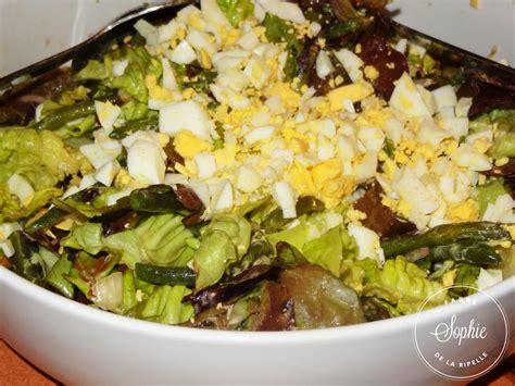 cuisiner aubergine facile salade verte aux haricots verts et oeufs la tendresse en