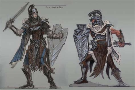 Imperial Armor Concept Art From The Elder Scrolls V