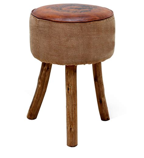 light brown stool brockman stool in light brown finish with mudramark by
