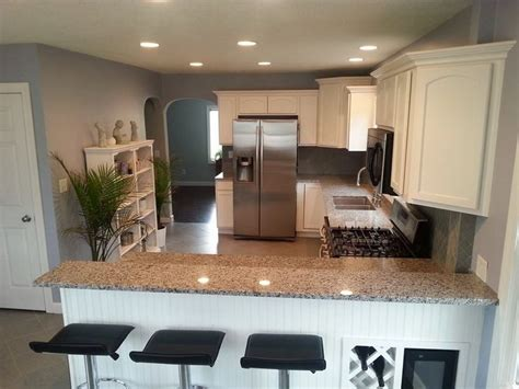 kitchen remodel cool tones white cabinets morning