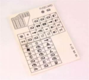 Fuse Diagram Key Card 99-05 Vw Jetta Golf Mk4 - Genuine