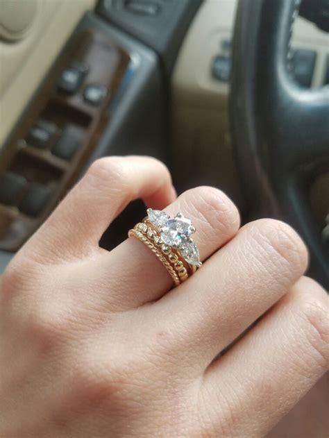 mismatched wedding bands ideas  pinterest