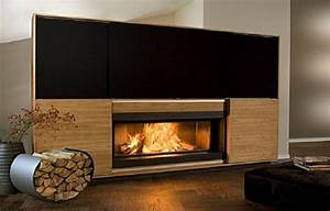 Cheminée Bois Design : cheminee moderne design a bois ~ Premium-room.com Idées de Décoration