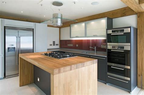 modern kitchen island with hob oak central island with gas hob built in glass hob