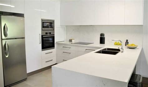Matching splashback and benchtop for a professional finish