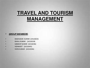 Travel And Tourism Management It Project Ppt