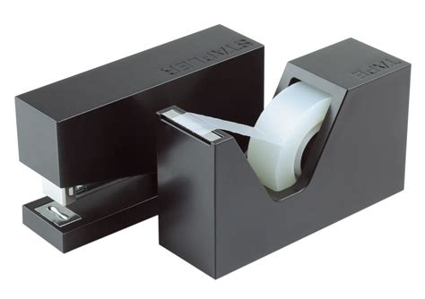accessoire bureau design accessoire de bureau buro set agrafeuse d 233 vidoir noir