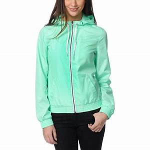 Zine Girls Neon Mint Windbreaker Jacket from Zumiez