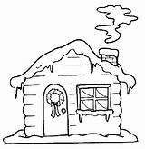 Coloring Pages Snow Hut Huts Colouring sketch template