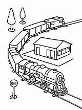 Train Coloring Tunnel Trains Passed Template sketch template