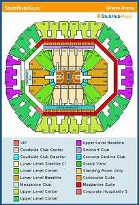 Oracle Arena Seating Chart  Pictures  Directions  And