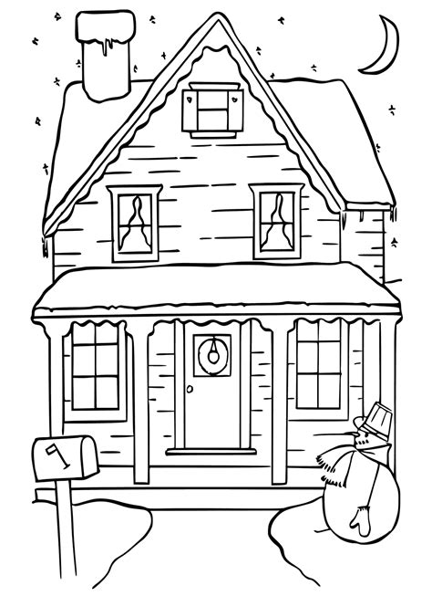 house coloring pages getcoloringpagescom