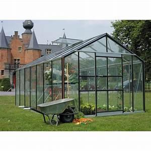 Serre Acier Verre : serre de jardin 18 10m en verre tremp 4mm plus embase ~ Premium-room.com Idées de Décoration