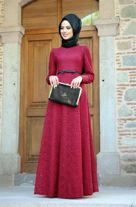 baju gamis dress panjang model dress bahan brokat terpopuler untuk pesta