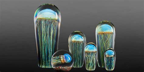 rick satava  art  glass blown jellyfish sculptures