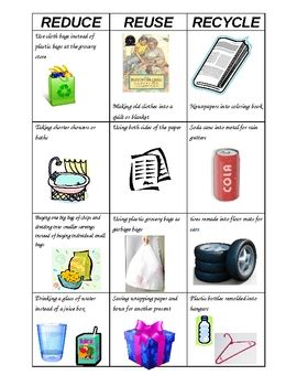reduce reuse recycle sort by purplepanda teachers pay teachers