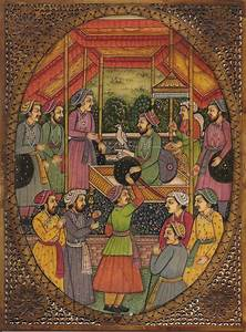 Mughal Painting Handmade Antique Finish Watercolor Moghul