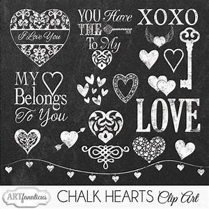 CHALK HEARTS CLIPART ~ Illustrations on Creative Market