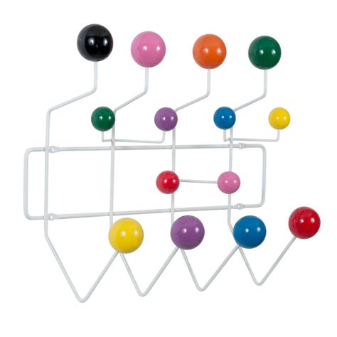 porte manteau hang it all blanc avec boules multicolores cult uk
