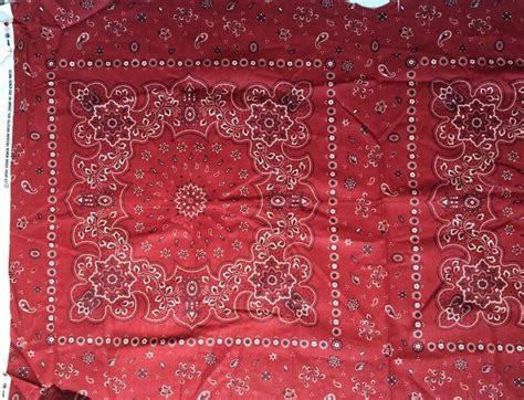 Home Decor Fabric 5th Avenue Design Red/black Bandana