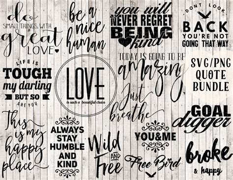 Free quotes svg files for personal use. quote svg bundle buy 1 get 3 free digital print printable