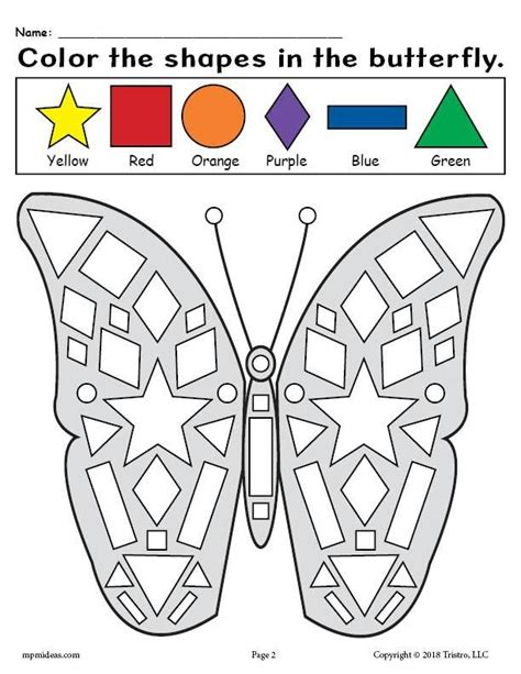free printable butterfly shapes coloring pages preschool 407 | ab34d3d0be37072445b91a31b5c017ca