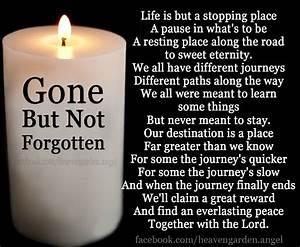 Memorial Poems Gone But Not Forgotten Heavens Garden