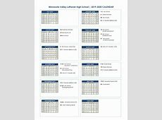 Academic Calendar 20192020 Minnesota Valley Lutheran