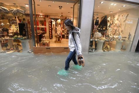 Venice Hit By High Tide As Italy Buffeted By Winds 6