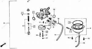 Honda Atv 1987 Oem Parts Diagram For Carburetor