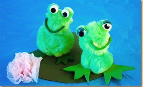 pom frog craft project ideas