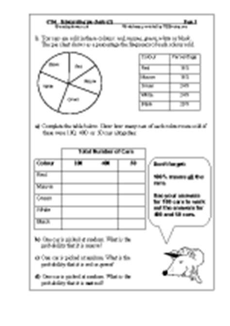 statistics handling data maths worksheets  year