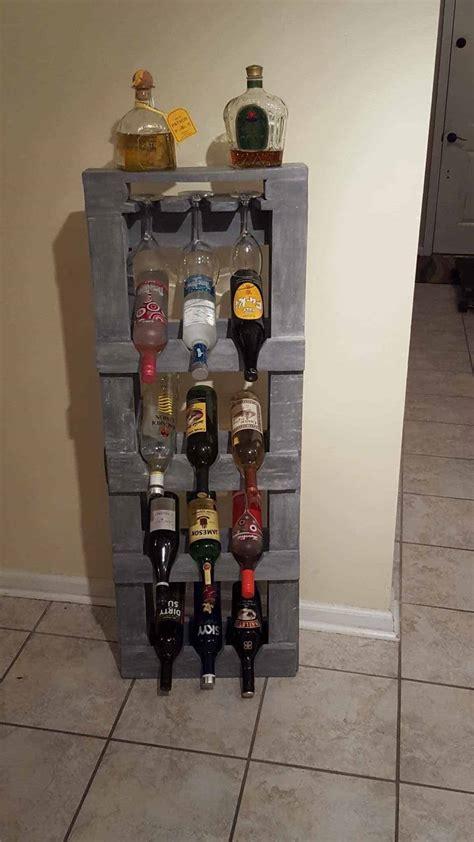 pallet alcohol shelf wine rack  pallets