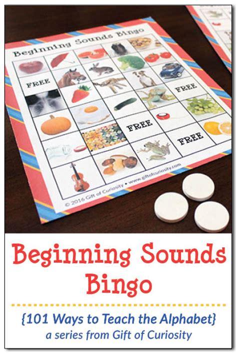 Free Beginning Sounds Bingo  Free Homeschool Deals