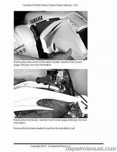 Yamaha Yfm350 Raptor Warrior Cyclepedia Printed Atv Repair