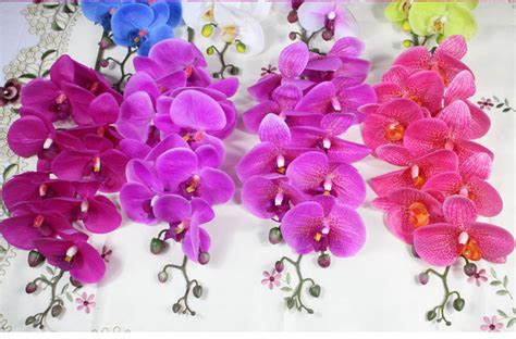 blue flower touch l real touch artificial flower blue latex orchid buy latex