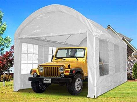 portable car garage quictent 174 20 215 10 heavy duty portable carport canopy garage