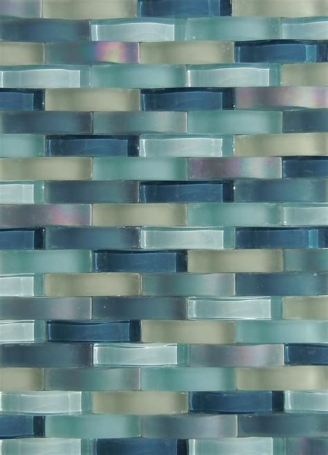 glass tile backsplash ripple waterfall