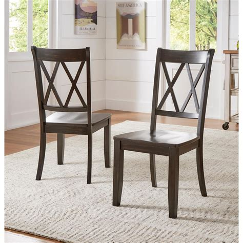 x back dining chairs homesullivan sawyer antique black wood x back dining chair 1680