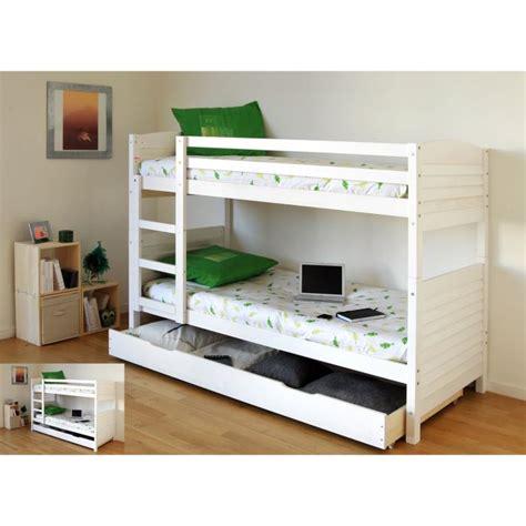 lit superpose avec tiroir lit lit superpos 233 jim 90x200 blanc sommiers 389 98 livr 233 acheter moins cher
